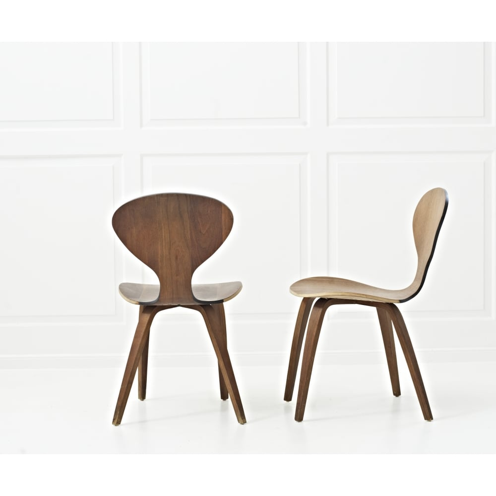 A Pair Of Norman Cherner Plycraft Side Chair   50% Off