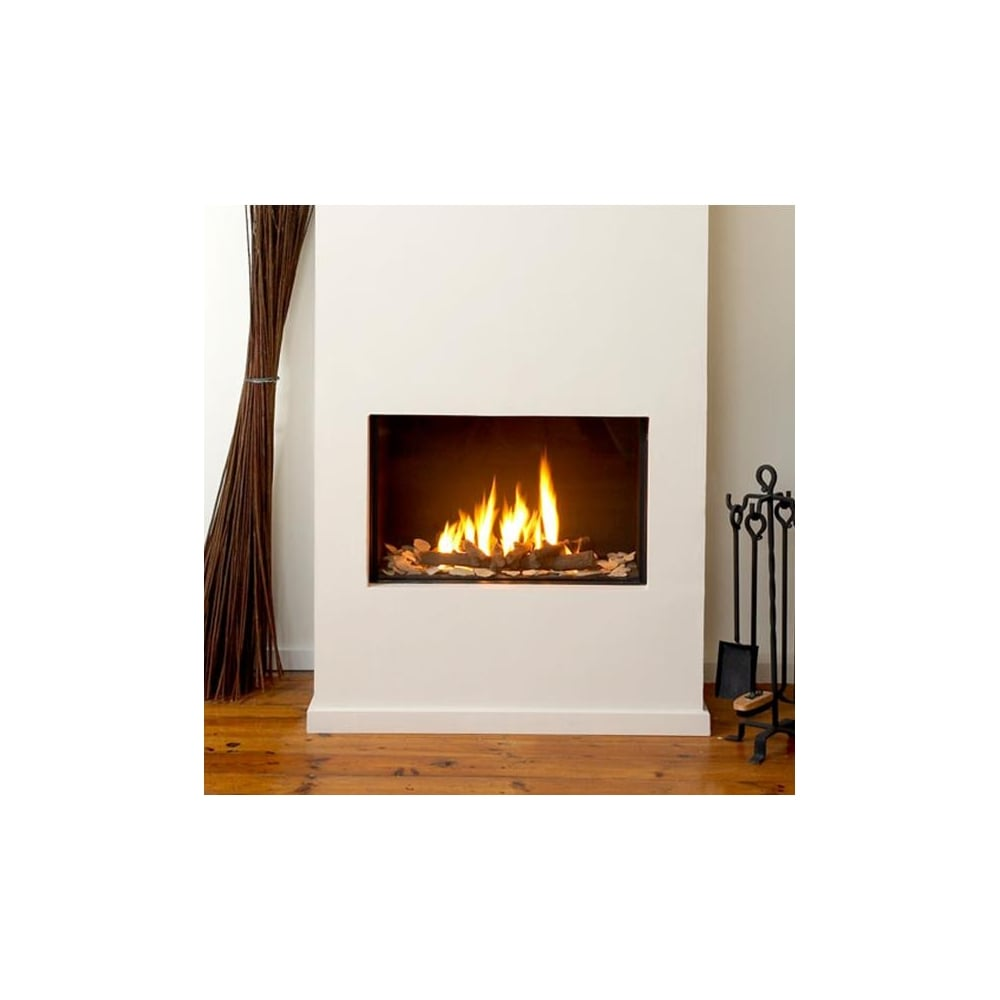 Ortal Clear 75 Front Facing Glass Fronted Gas Fire