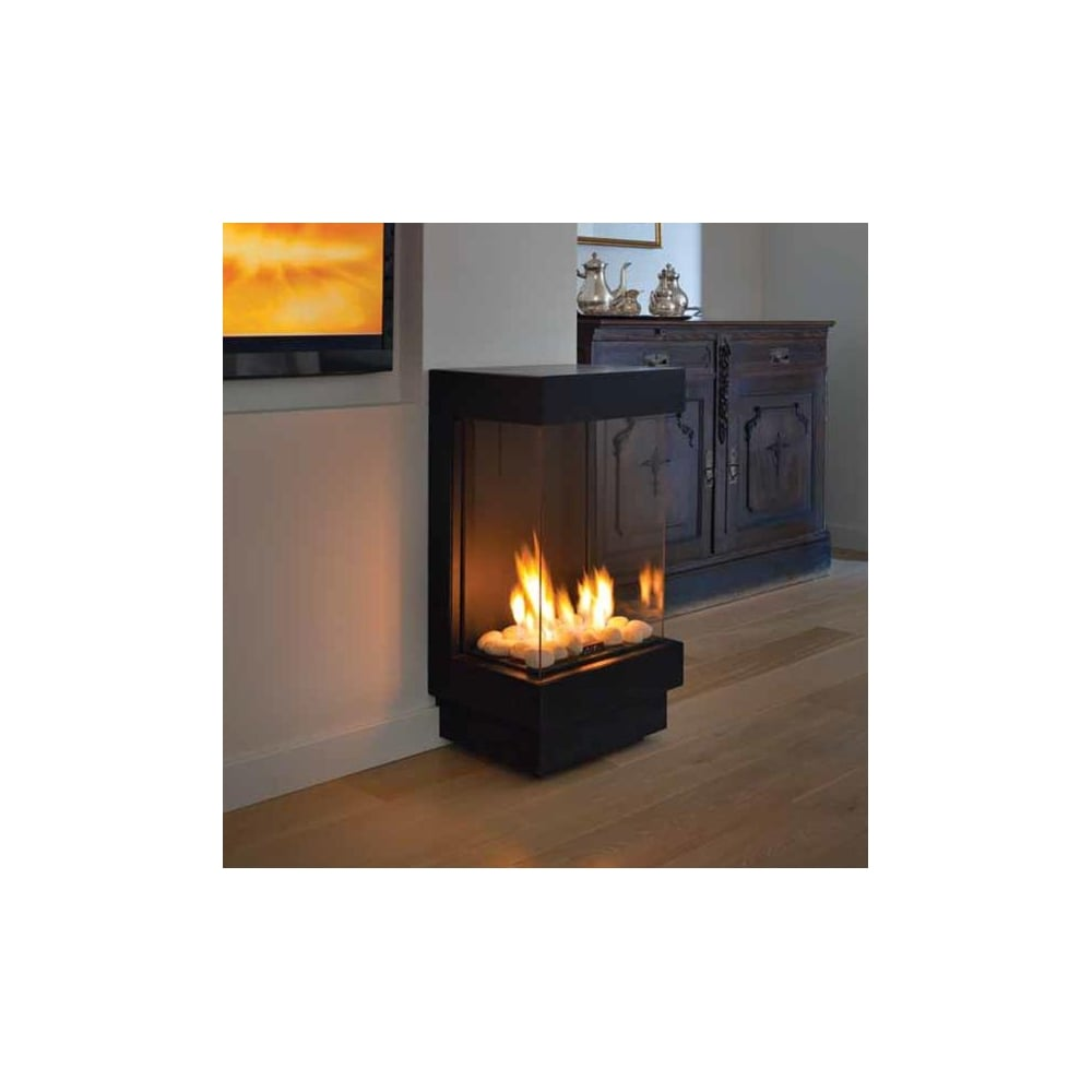 ortal standalone 40 ts front and two sides gas fireplace
