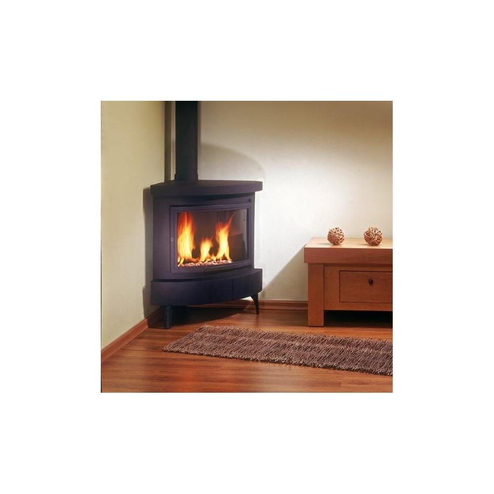 Ortal Standalone Modern Corner Gas Fireplace
