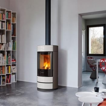 Round Wood Burning Stove
